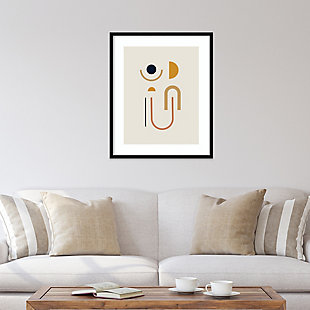 Amanti Art Sunrise Golden Geometric  Framed Wall Art Print, Black, rollover
