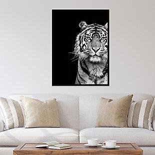 Amanti Art Tiger Animal Portrait Black  Framed Wall Art Print, , rollover