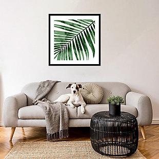 Amanti Art Tropical Green Palm I by Melonie Miller Framed Art Print, Black, rollover