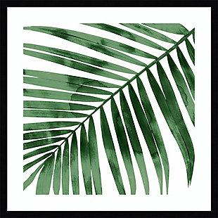 Amanti Art Tropical Green Palm I by Melonie Miller Framed Art Print, Black, large