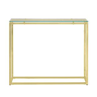Euro Style Sandor Console Table, Clear, rollover