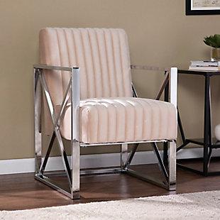 Southern Enterprises Lorainne Velveteen Accent Chair, , rollover
