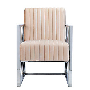 Southern Enterprises Lorainne Velveteen Accent Chair, , large