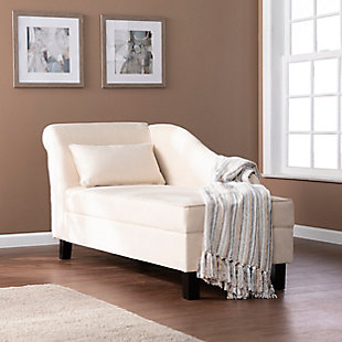 Southern Enterprises Meyson Chaise Lounge with Storage, , rollover