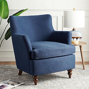 Safavieh Levin Accent Chair, Navy, rollover