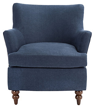 Safavieh Levin Accent Chair, Navy, large