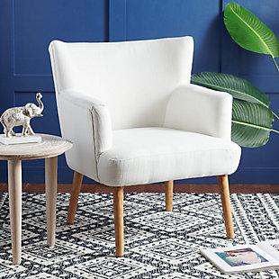 Safavieh Delfino Accent Chair, White, rollover