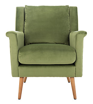 Safavieh Astrid Arm Chair, Olive/Natural, large