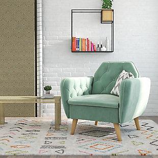 Novogratz Teresa Memory Foam Accent Chair, Light Green, rollover