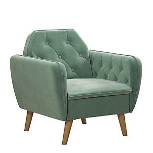 Novogratz Teresa Memory Foam Accent Chair, Light Green, large