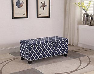 ORE International Dixon Moroccan Storage Bench, , rollover