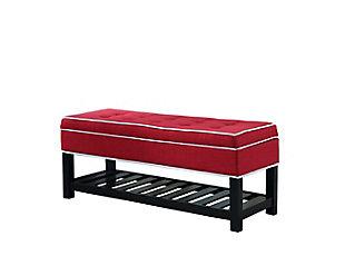 ORE International Tufted Storage Shoe Bench, , large