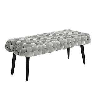 Creative Co-op Chunky Woven Bench, , large