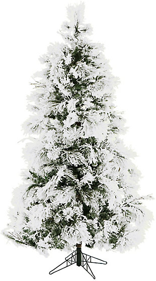 6.5-Ft. Frosted Fir Snowy Artificial Christmas Tree, , large