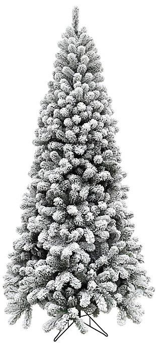 6.5-Ft. Flocked Alaskan Pine Christmas Tree, , large