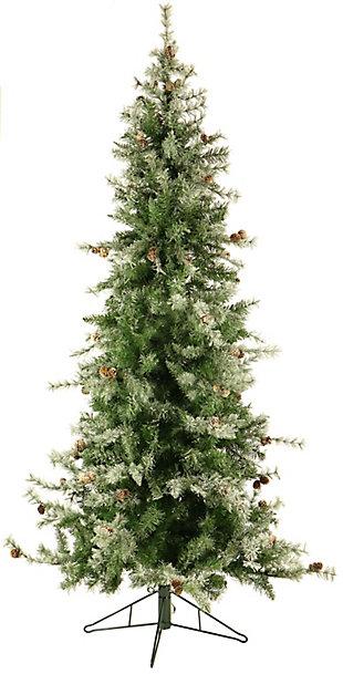 9 Ft. Buffalo Fir Slim Artificial Christmas Tree with Smart String Lighting, , rollover