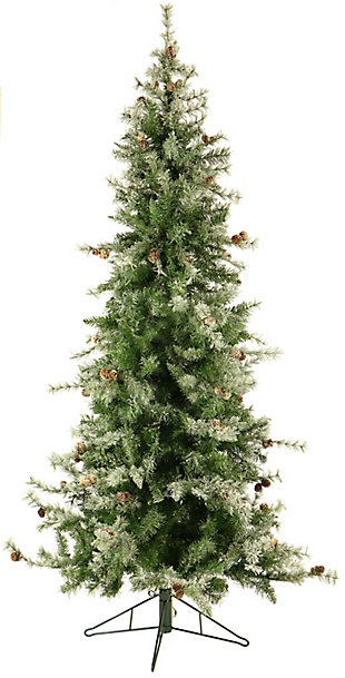 9 Ft. Buffalo Fir Slim Artificial Christmas Tree with Smart String Lighting, , large