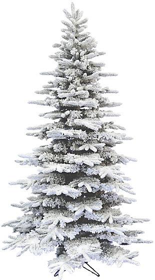 7.5-Ft. Flocked Mountain Pine Christmas Tree, , large