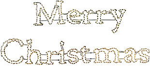 Christmas 2-Piece Merry Christmas Sign in Warm White Outdoor LED Lights, , large