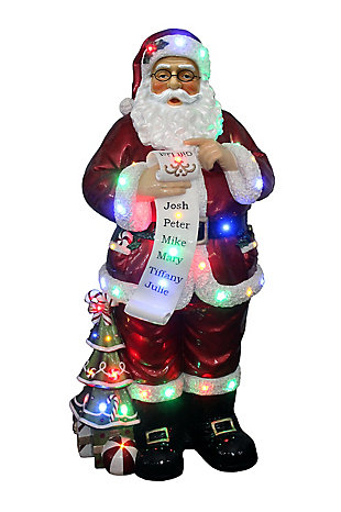 Indoor/Outdoor 4-Ft. Santa Claus Holding Naughty and Nice Scroll with Long-Lasting LED Lights, , large