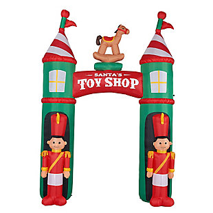10-Ft. Tall Blow Up Inflatable Santa's Toy Shop Archway, , large