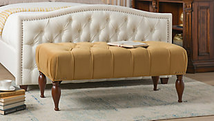 Jennifer Taylor Home Lyon Tufted Entryway Accent Bench, , rollover