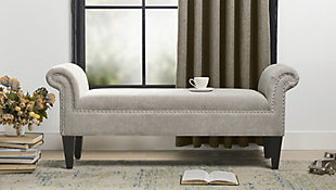 Jennifer Taylor Home Ash Roll Arm Bench, , rollover