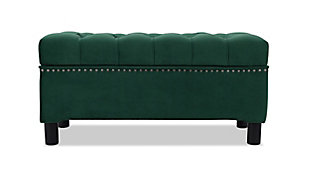 Jennifer Taylor Home Renee Storage Bench, Evergreen, large