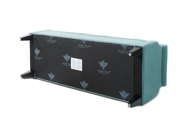 Jennifer Taylor Home Jacqueline Roll Arm Storage Bench, Arctic Blue, large