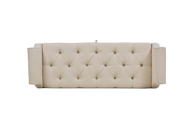 Jennifer Taylor Home Jacqueline Roll Arm Storage Bench, Sky Neutral Beige, large
