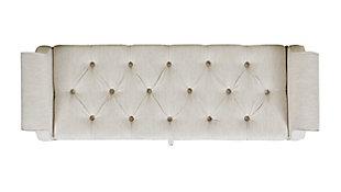 Jennifer Taylor Home Jacqueline Roll Arm Storage Bench, Natural White, large