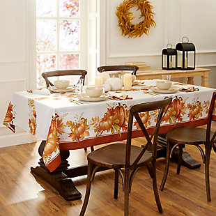 Autumn Pumpkin Grove Fall Rectangle Tablecloth, 60x144, Multi, rollover