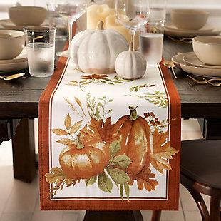 Autumn Pumpkin Grove Fall Table Runner, 13x70, , rollover