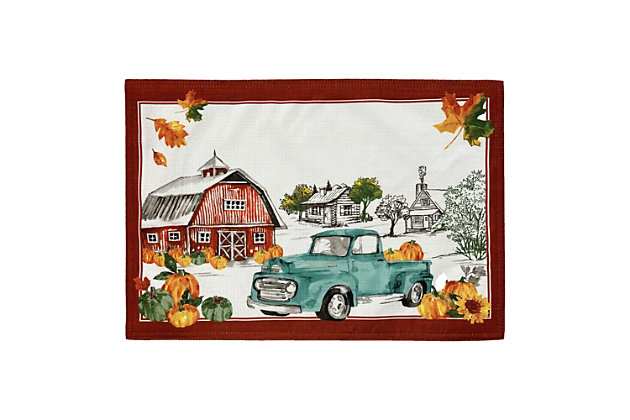 Farm Fresh Pumpkin Truck Fall Placemat, 13x19 (Set of 4), , large