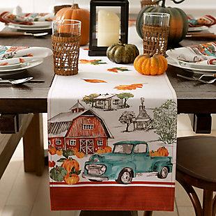 Farm Fresh Pumpkin Truck Fall Table Runner, 13x70, , rollover