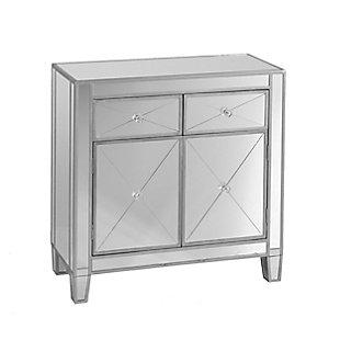 Southern Enterprises Celine Mirrored Cabinet, , large