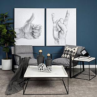 Mercana Guilia Sling Accent Chair, Castlerock Gray, rollover