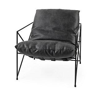 Mercana Leonidas Accent Chair, Black, large