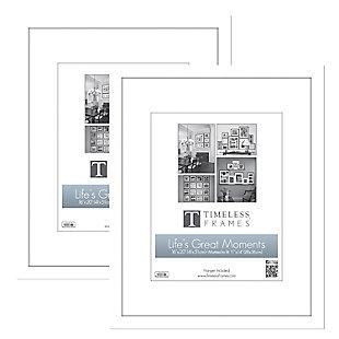 Timeless Frames  16x20 Anna Portrait 2 Pack White, White, rollover