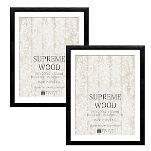 Timeless Frames  16x20 Supreme Woods 2 Pack Black, Black, rollover