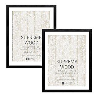 Timeless Frames  16x20 Supreme Woods 2 Pack Black, Black, large