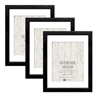 Timeless Frames  11x14 Supreme Wood 3Pack Black, Black, large
