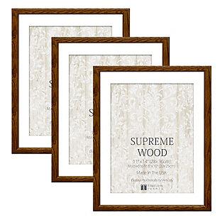 Timeless Frames  11x14 Supreme Wood 3Pack Honey, Honey, rollover