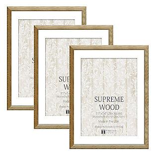 Timeless Frames  11x14 Supreme Wood 3 Pack Natural, Natural, rollover