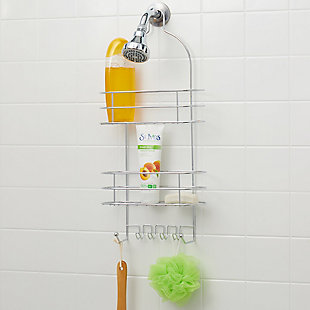 Home Basics Home Basics 2 Tier Wire Shower Caddy, Chrome, , rollover