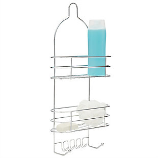 Home Basics Home Basics 2 Tier Wire Shower Caddy, Chrome, , large