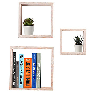 Home Basics 3 Piece Floating Wall Cubes, , large
