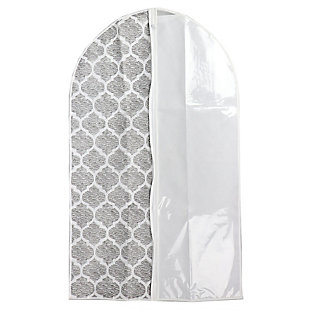 Home Basics Arabesque Non-Woven Suit Bag with Clear Plastic Panel, , large
