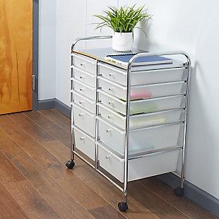 Home Basics 12-Drawer Storage Cart, , rollover