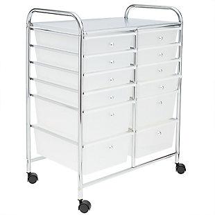 Home Basics 12-Drawer Storage Cart, , large